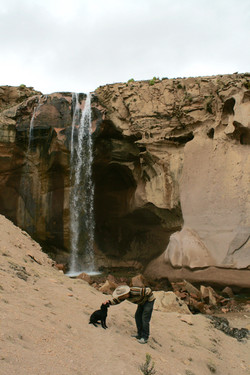 High-Altitude Waterfall