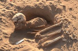 Burial at Pampa Colorada