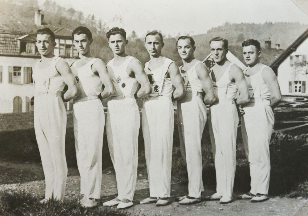von links:  F. Urich, E. Keser,  E.