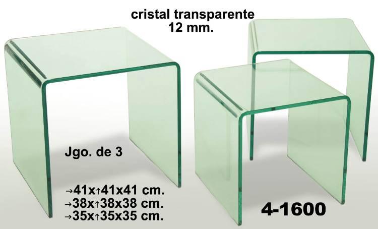 Conjunto mesa vidro Ref 41600