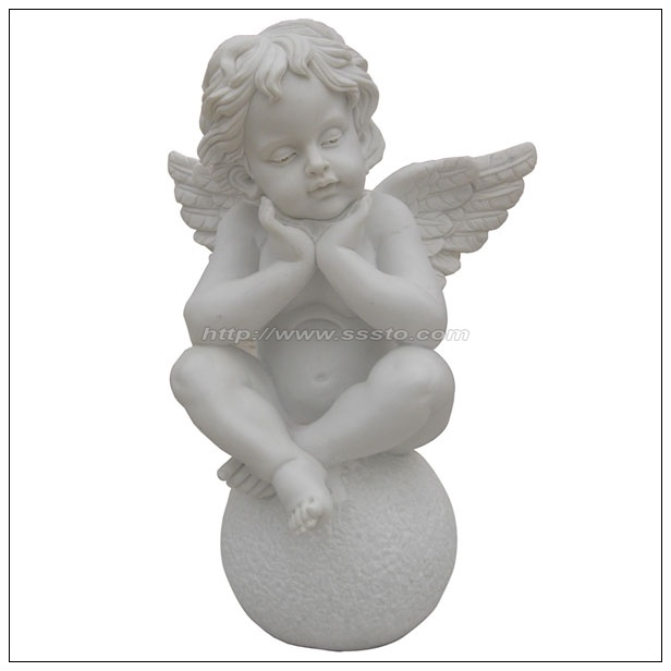 Stone-Angel-Sculpture-White