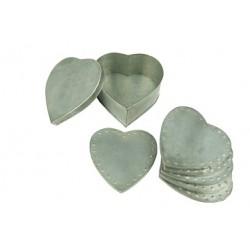ensemble-de-6-dessous-de-verre-coeur-zinc-avec-support