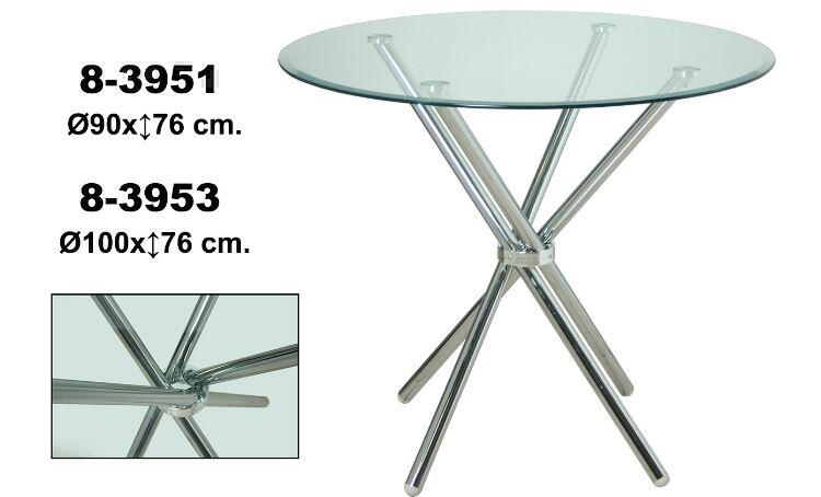Mesa de vidro Ref 83951 Ref 83953