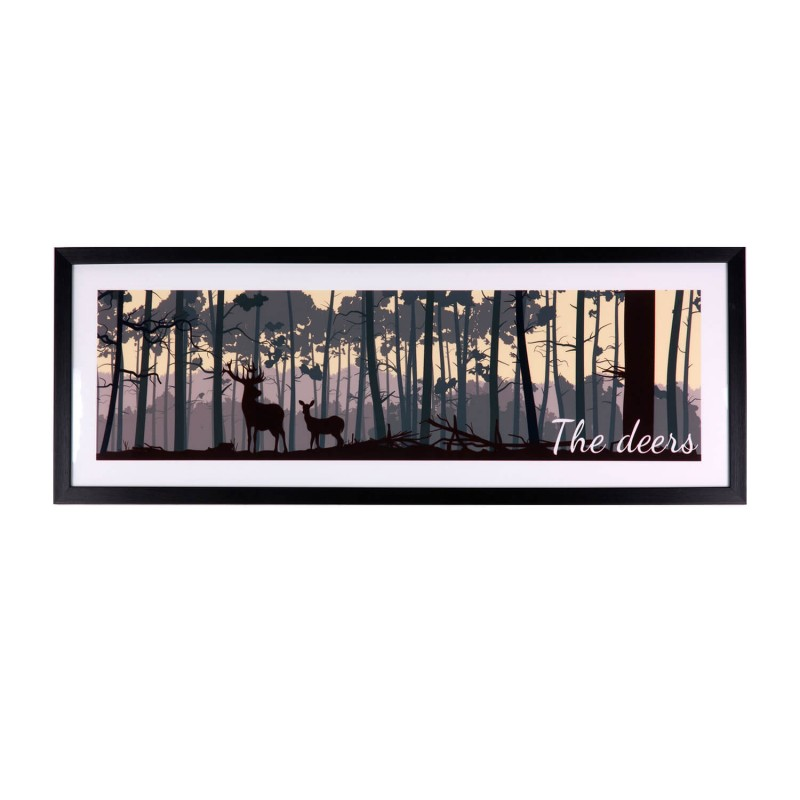 cuadro-the-deers-negro-80x30 €89,95