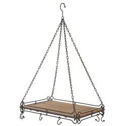 suspension-casserolier-fer-et-bois