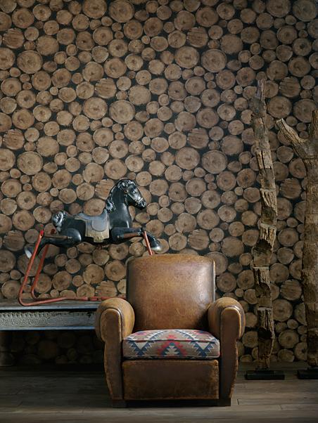 Papel parede troncos 68cm x 10mt