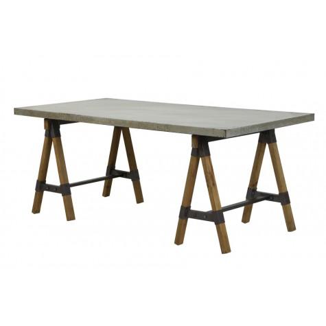DINING TABLE 188X88X75 CM GUARAMI ZINC LOOK