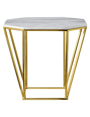 Mesa apoio tampo marmore. 45x45x40