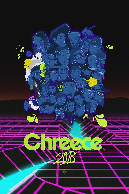 DOMZILLA X CHREECE LIMITED EDITION PRINT POSTER
