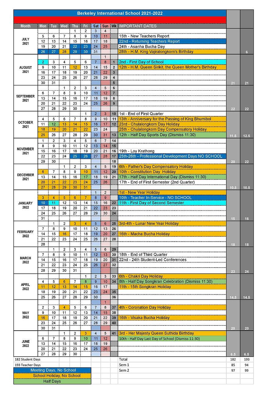 2021-2022 Berkeley School Calendar zz-pa