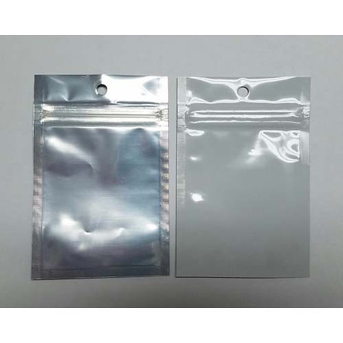 Cannabis Flat Gram Bag White/Clear-1 case
