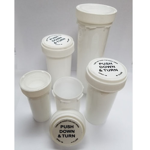 40 Dram Opaque White Reversible Cap Bottle-1 cs