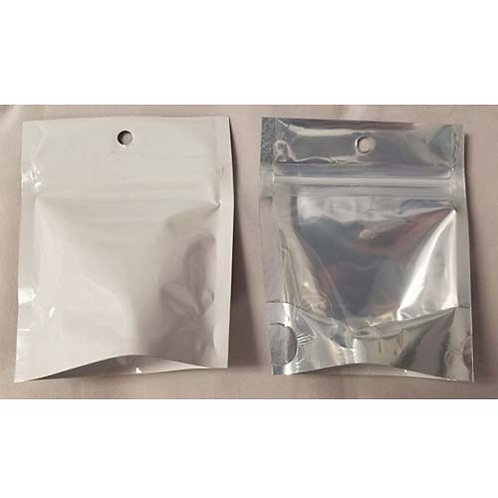 Cannabis Gram Bags White/Clear-1 box