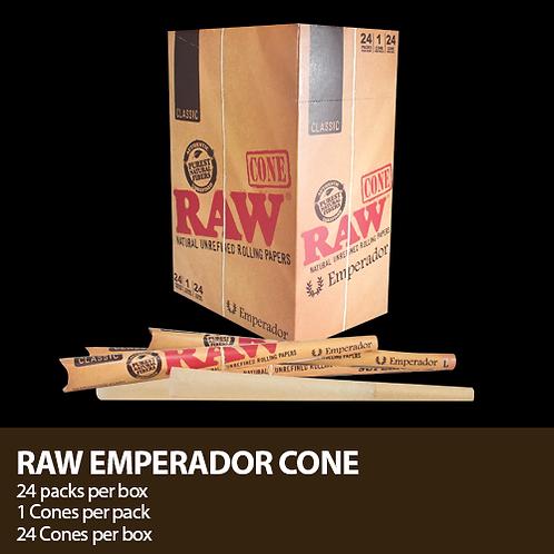 """Raw Emperador 7 1/4"""" Pre Rolled Cones-1cs"""