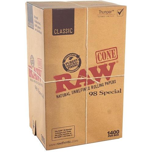 Raw 98 Special Pre Roll Cones-1 box