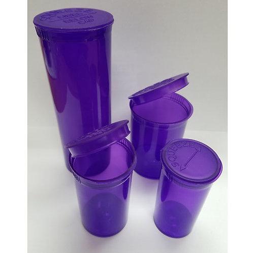13 Dram Purple Pop Top Bottles-1 cs