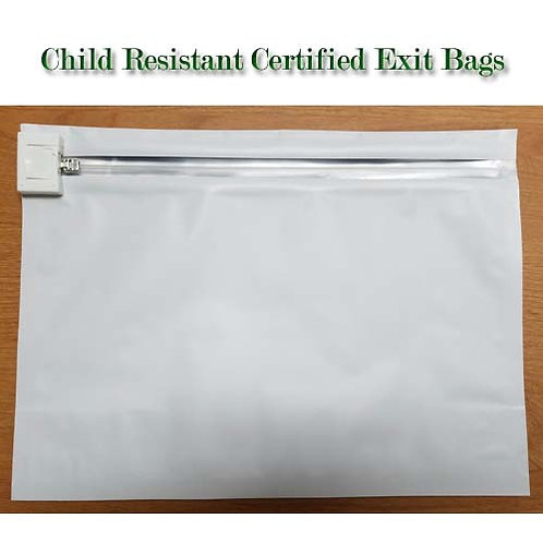 Large White Mylar Exit Bags-200/cs
