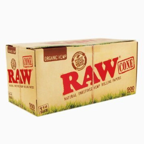 Raw Organic 1 1/4 Size Cones, Pre Rolled-1 box