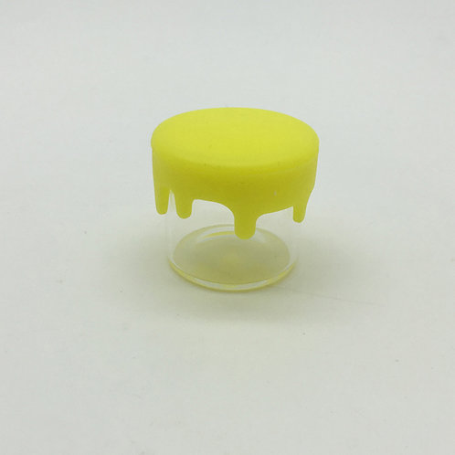 6ml Glass Jars w/Yellow Oil Drip Lid-1cs