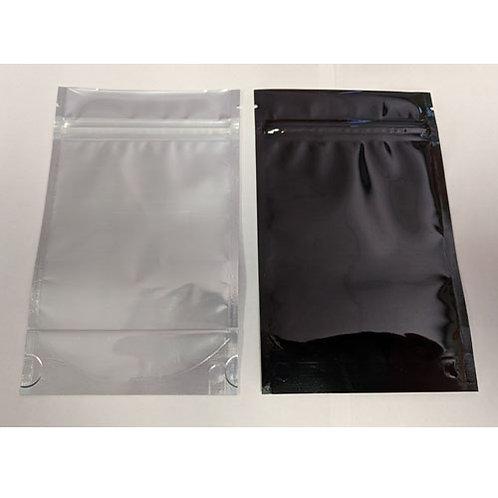 Cannabis 1/4oz Bags Black/Clear w/tear notch -1 case