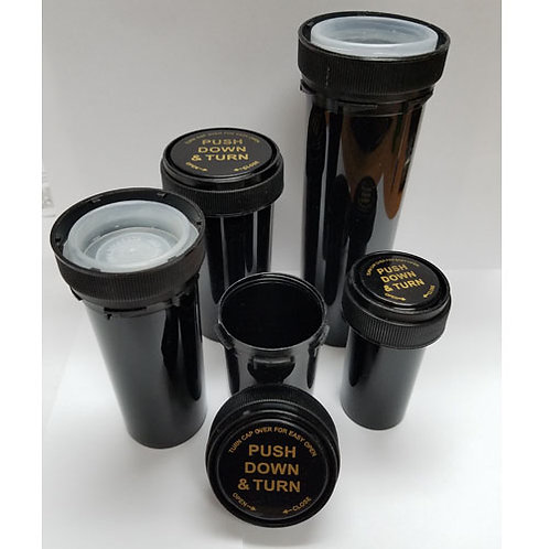 30 Dram Opaque Black Reversible Cap Bottle-1 cs