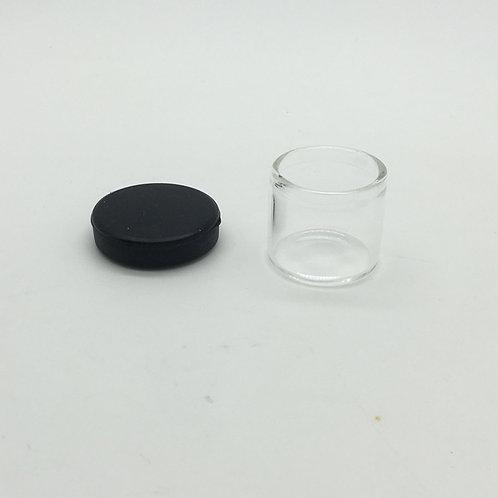 6ml Glass Jars w/Black Silicone Lid-1cs