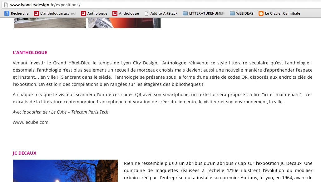 LyonCityDesign, Site