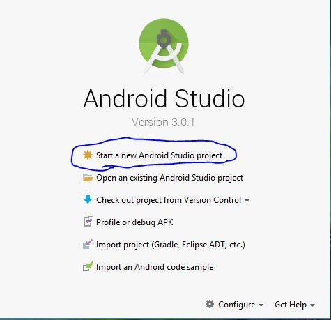 creating first app in android studio