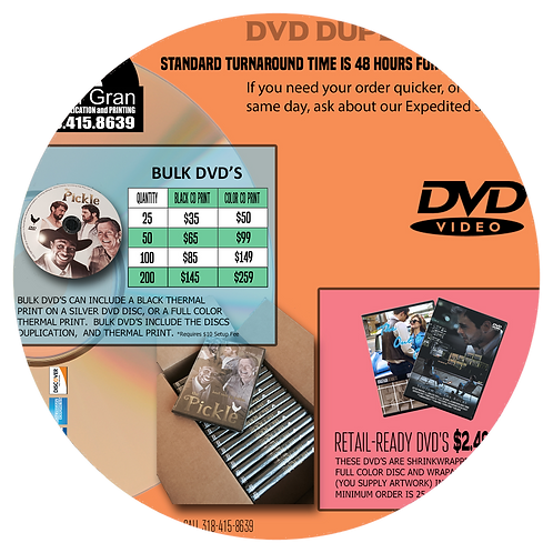 DVDs (Bulk and Retail)