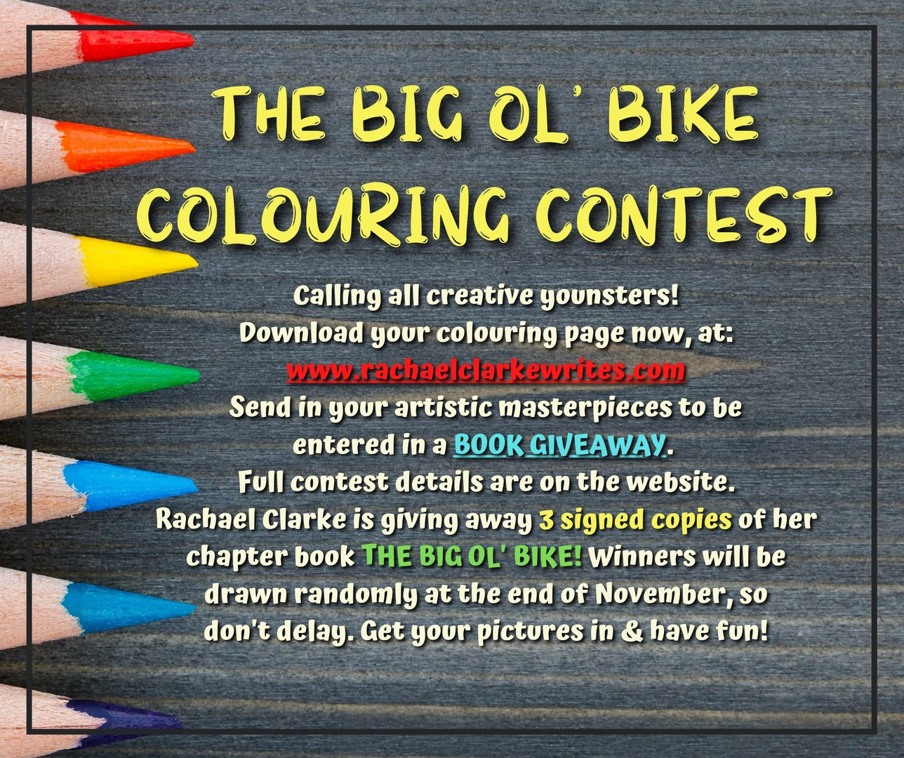 The Big Ol' Bike - Colouring Contest
