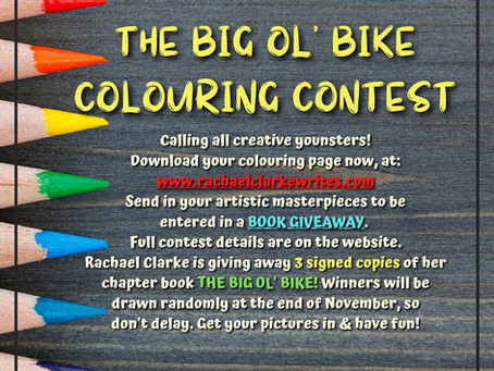 THE BIG OL' BIKE - COLOURING CONTEST UPDATES!