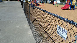 vinyl coated chain link fencing installation