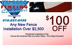Tri-Boro Fencing Contractors money saving coupon