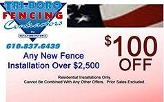 Tri-Boro Fencing Contractors money saving coupon