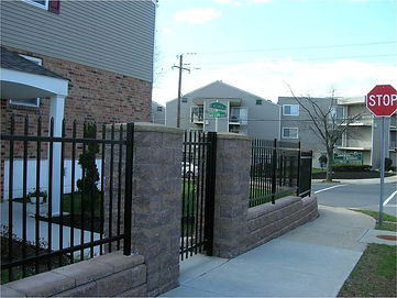 Ornamental Steel Fence Commercial Installation