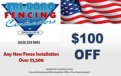fencing installation money saving coupon