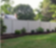 PVC vinyl privacy fence installation