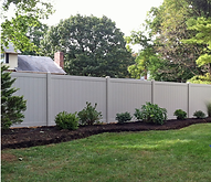 PVC vinyl privacy fence installation