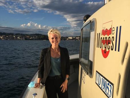 Visite de Isabelle Moret, Présidente du Conseil National