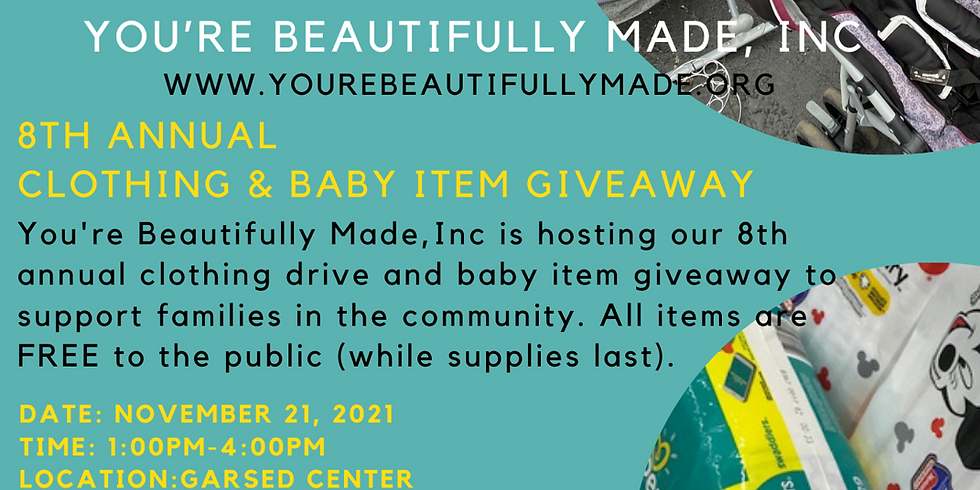 You're Beautifully Made Annual Clothing and Baby Item Giveaway