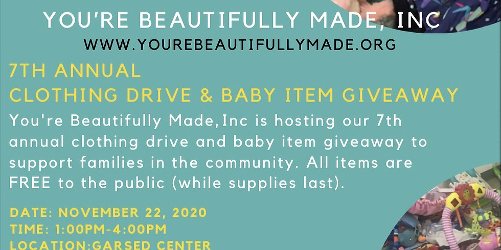 Clothing Drive and Baby Item Giveaway