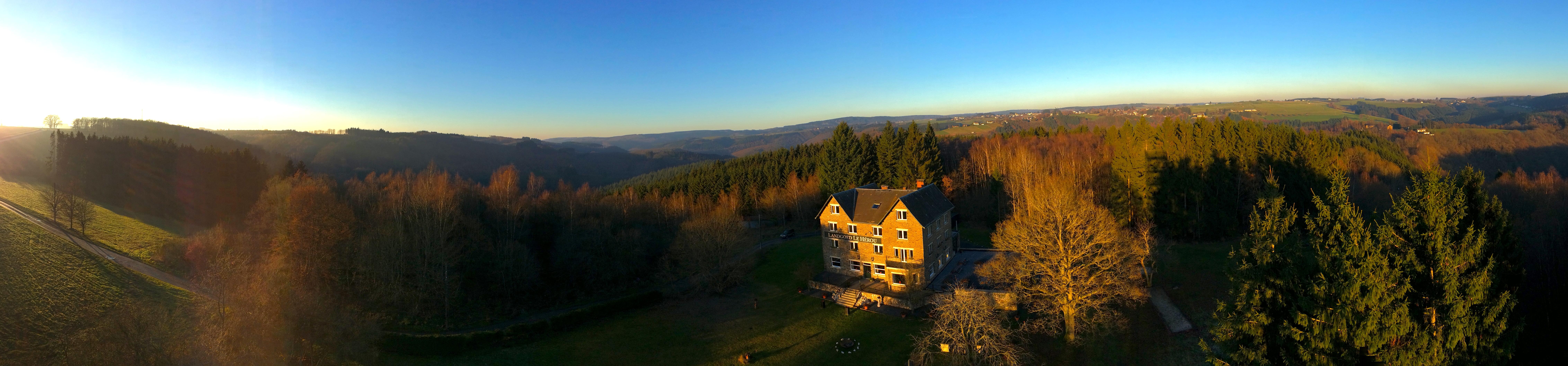Panorama herfst in de Ardennen!