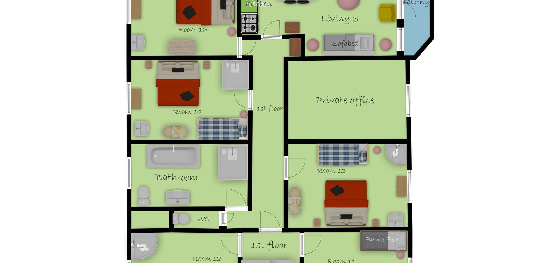 Luxe Vakantiehuis Ardennen Landgoed Le Herou 4* voor 10 tot 70 personen 5 etages 1400 m2