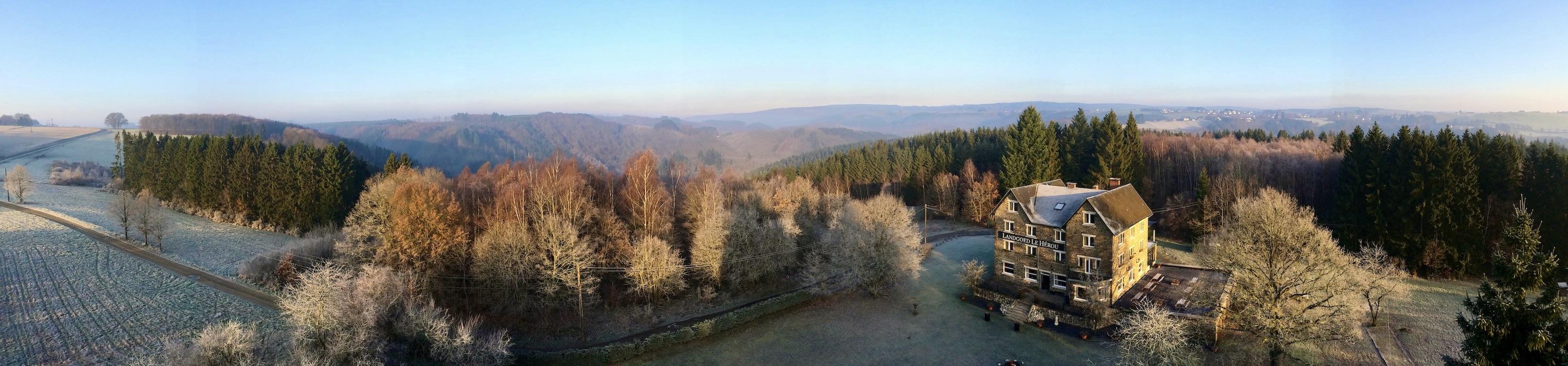 Ardennen Landgoed Le Herou buiten winter