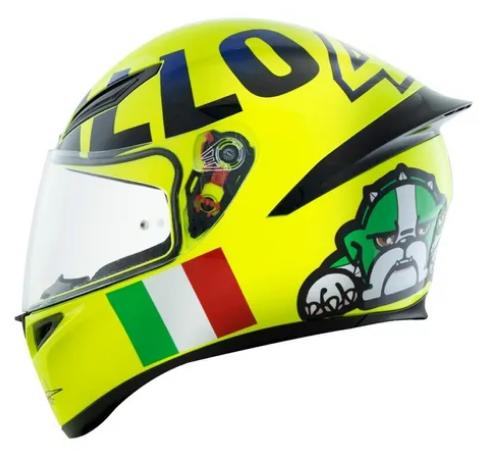 Capacete Agv Valentino Rossi K1 Mugiallo