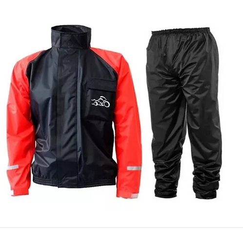 Capa Chuva PB Moto Nylon Blusa Calça