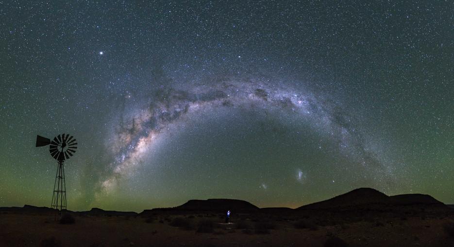 Karoo Night Landscape Panorama