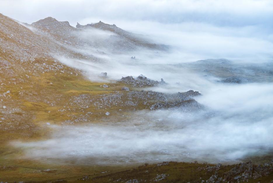Du Toitskloof Mountain Fog