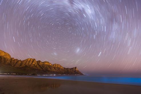 Kogelbay Bioluminescence Startrail
