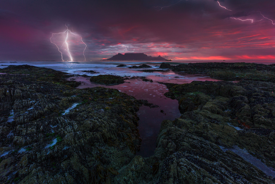 Cape Town Lightning Sunset